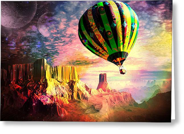 Dream And All Things Will Be Possible Greeting Card by Spinning Angel