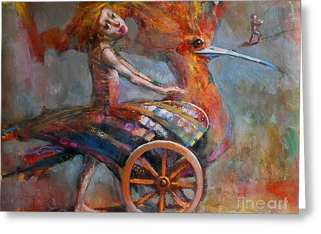 Freedom Park Paintings Greeting Cards - Dream Bird Greeting Card by Michal Kwarciak