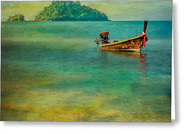 Longboat Greeting Cards - Dream Boat Greeting Card by Adrian Evans