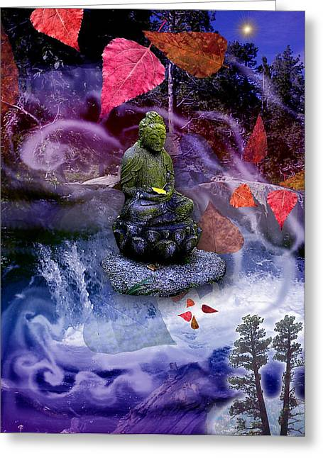 Spirituality Greeting Cards - Dream Buddha Greeting Card by Alixandra Mullins