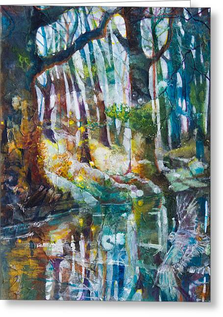 Brook Mixed Media Greeting Cards - Dream by the Stream Greeting Card by Patricia Allingham Carlson