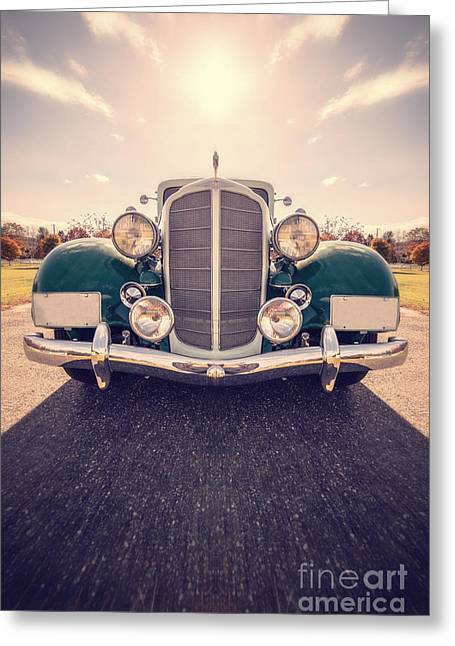 Vintage Cars Greeting Cards - Dream Car Greeting Card by Edward Fielding