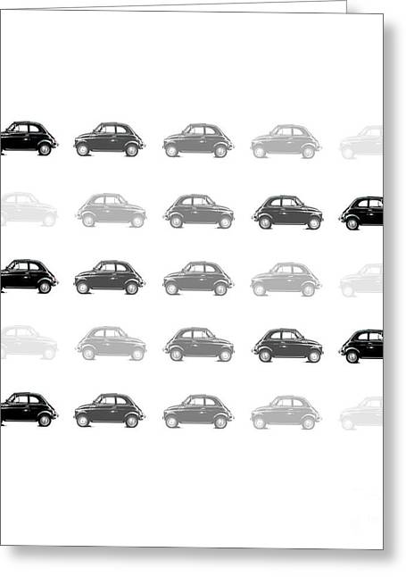 Fiat 500 Greeting Cards - Dream Cars - Fiat 500 Greeting Card by Steffi Louis