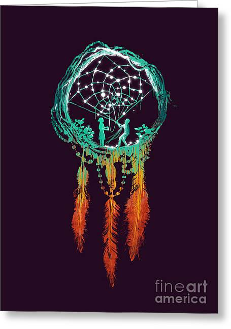 Rustic Digital Greeting Cards - Dream Catcher Greeting Card by Budi Kwan