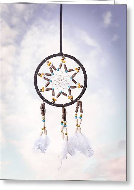 Indigenous Greeting Cards - Dream Catcher Greeting Card by Amanda And Christopher Elwell