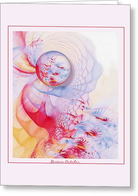 Abstract Digital Pastels Greeting Cards - Dream Catcher Greeting Card by Gayle Odsather