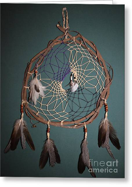 Dream Tapestries - Textiles Greeting Cards - Dream Catcher Greeting Card by Michelle White