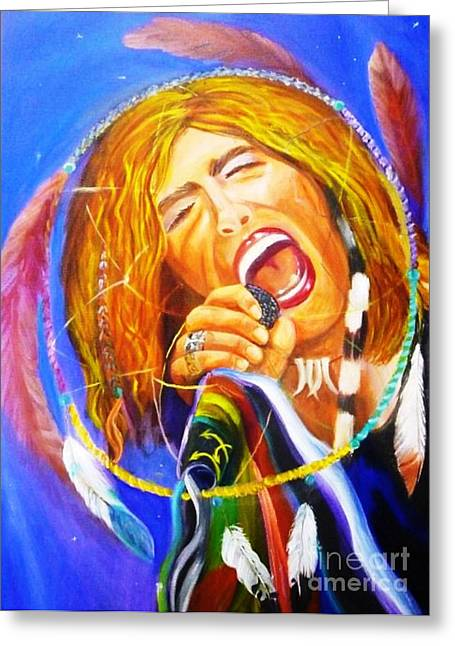 Tom Boy Paintings Greeting Cards - Dream Catcher Greeting Card by To-Tam Gerwe