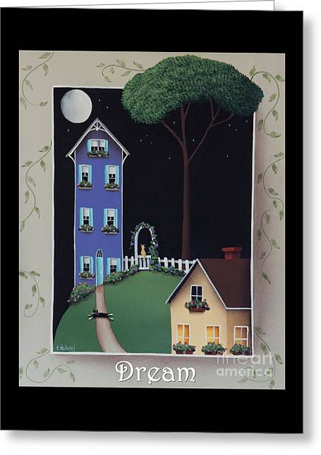 American Primitive Art Greeting Cards - Dream Greeting Card by Catherine Holman