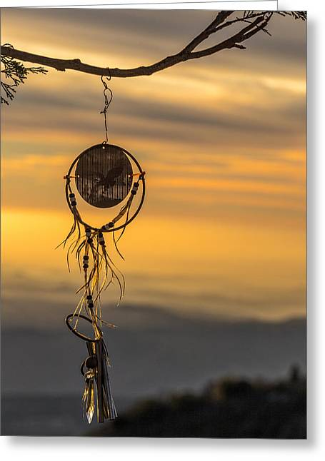 Amulets Greeting Cards - Dream Caught Greeting Card by Peter Tellone