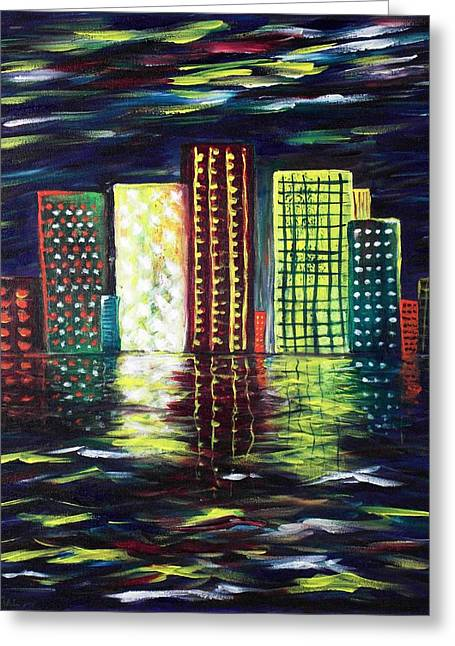 Dream City Greeting Card by Anastasiya Malakhova