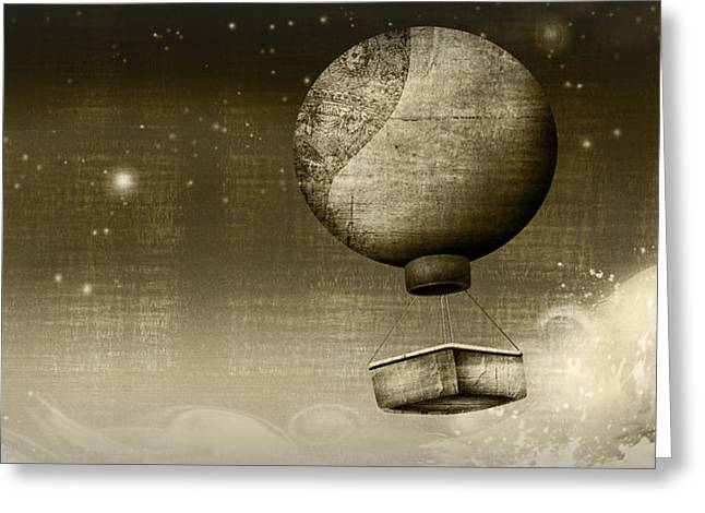 Duo Tone Digital Art Greeting Cards - Dream Drifters Greeting Card by Fotios Pavlopoulos
