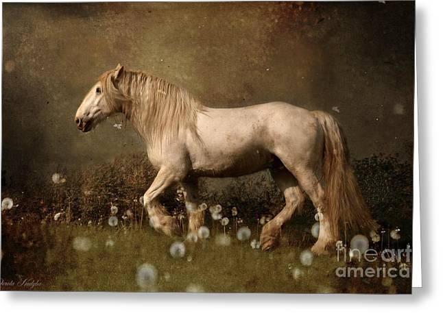 Equestrian Prints Greeting Cards - Dream Guardian Greeting Card by Dorota Kudyba