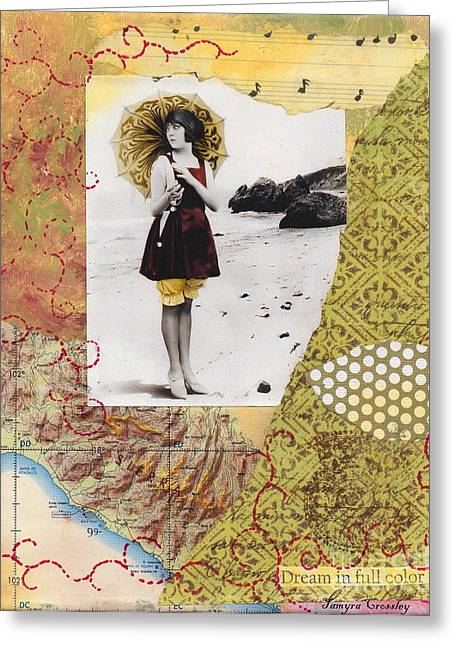 Swimsuit Mixed Media Greeting Cards - Dream in Full Color Greeting Card by Tamyra Crossley