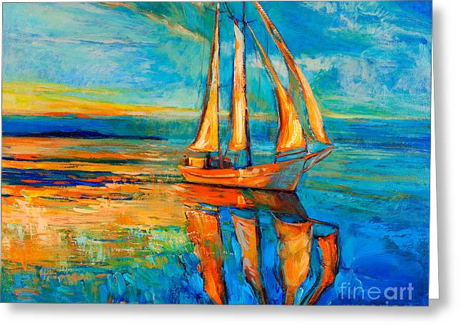 Acrylic Art Paintings Greeting Cards - Dream Greeting Card by Ivailo Nikolov