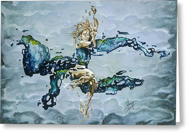 Dripping Paintings Greeting Cards - Dream Greeting Card by Karina Llergo Salto