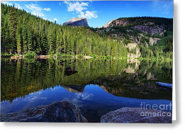 Dream Lake Rocky Mountain National Park Greeting Card by Wayne Moran
