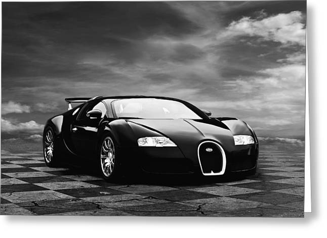 Bugatti Greeting Cards - Dream Machine BW Greeting Card by Peter Chilelli