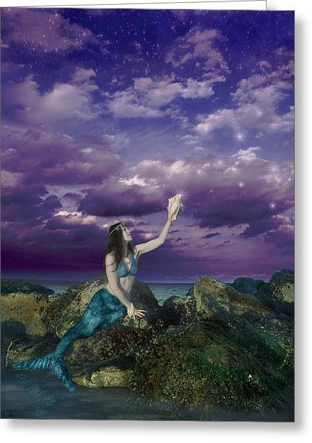 Surreal Landscape Photographs Greeting Cards - Dream Mermaid Greeting Card by Alixandra Mullins