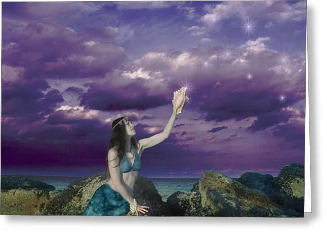 Dream Mermaid Greeting Card by Alixandra Mullins