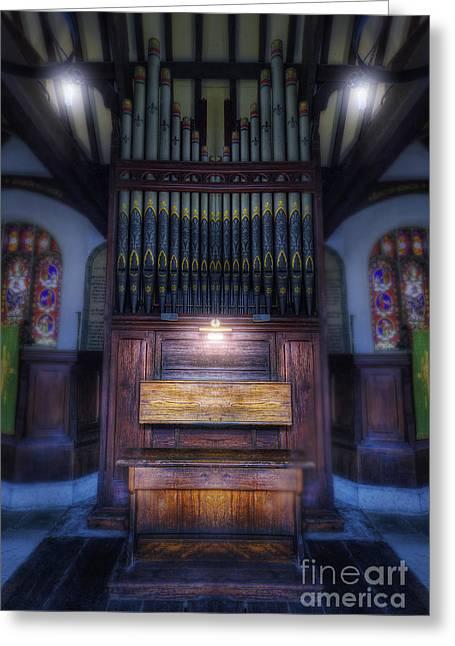Organist Greeting Cards - Dream Mirror Organ Greeting Card by Ian Mitchell