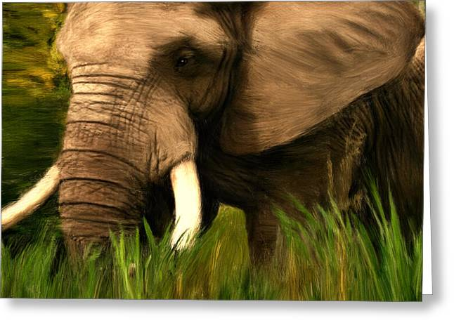 African Elephants Greeting Cards - Dream Of Me Greeting Card by Lourry Legarde