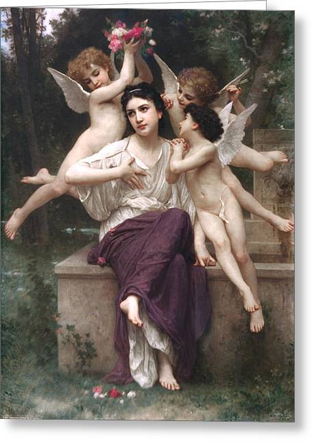 Dream Of Spring Greeting Card by Adolphe-William Bouguereau