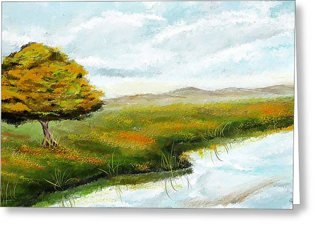 Beauty In Nature Paintings Greeting Cards - Dream Of Spring Greeting Card by Lourry Legarde