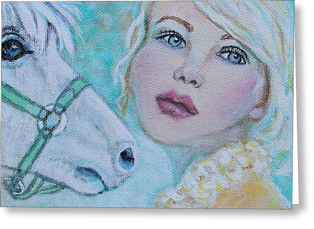 Horse Lover Pastels Greeting Cards - Dream On Dreamer Greeting Card by The Art With A Heart By Charlotte Phillips
