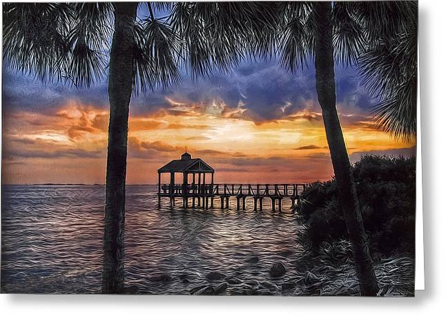 Outlook Greeting Cards - Dream Pier Greeting Card by Hanny Heim
