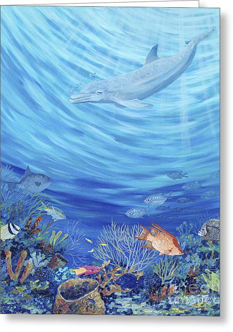 Reef Fish Greeting Cards - Dream Reef Greeting Card by Danielle  Perry