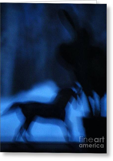 Pale Rider Greeting Cards - Dream rider in the dawn Greeting Card by Brian Boyle