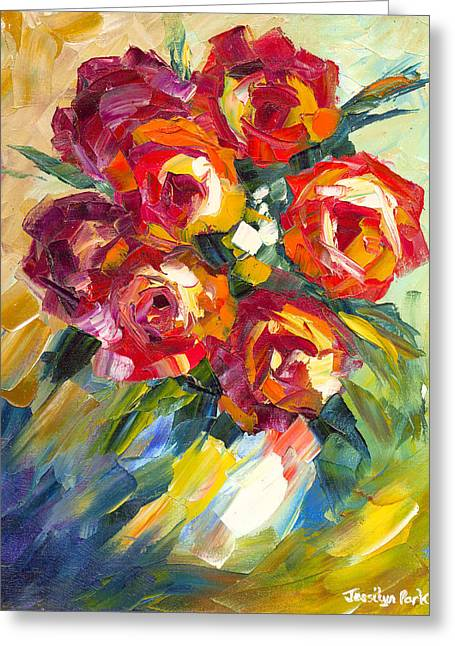 Jessilyn Park Greeting Cards - Dream Roses Greeting Card by Jessilyn Park