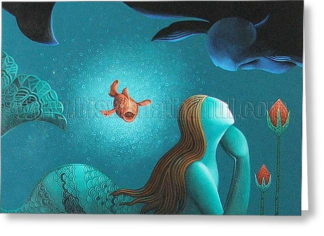 Talking Fish Greeting Cards - Dream Talking Greeting Card by Biswanath  Dhul