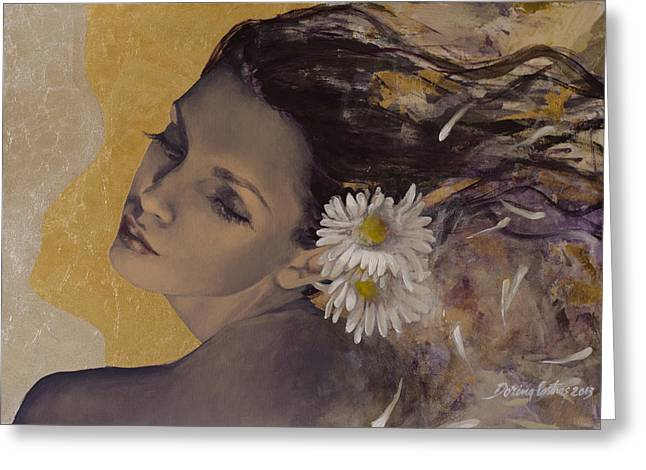 Live Art Greeting Cards - Dream Traveler Greeting Card by Dorina  Costras