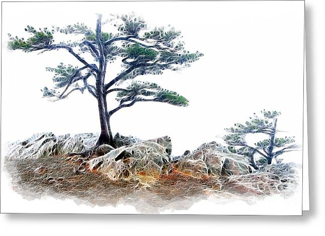Abstract Mountains Framed Prints Greeting Cards - Dream Trees - Blue Ridge Parkway Greeting Card by Dan Carmichael