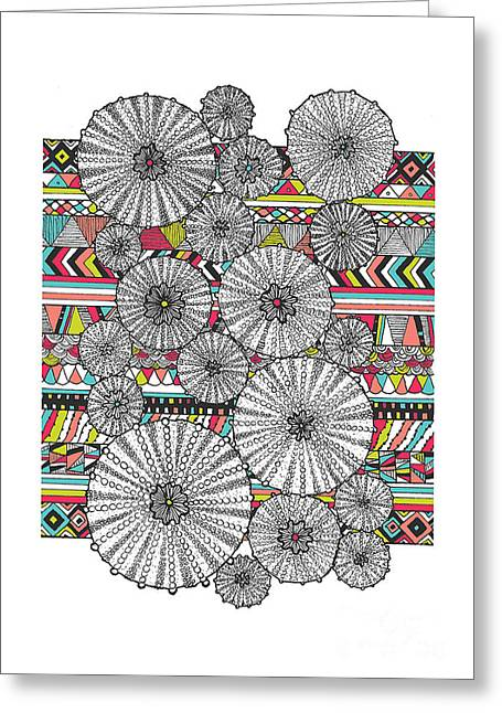 Navajo Greeting Cards - Dream Urchins Greeting Card by Susan Claire