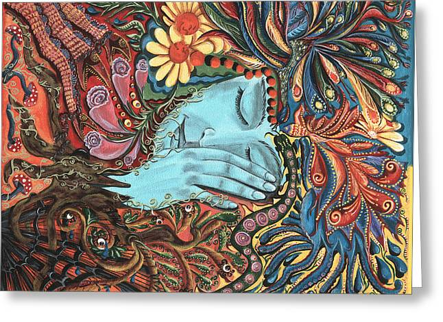 Archetype Paintings Greeting Cards - Dream Greeting Card by Vera Tour