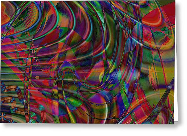 Abstract Digital Mixed Media Greeting Cards - Dream weaver fever Greeting Card by Kevin Caudill