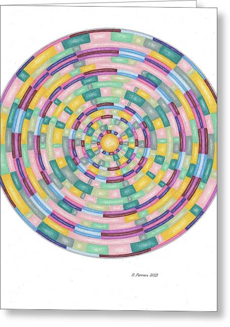 Sacred Drawings Greeting Cards - Dream Well Template Greeting Card by Ruthie Ferrone