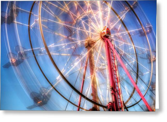 Rotate Greeting Cards - Dream Wheel Greeting Card by Spencer McDonald