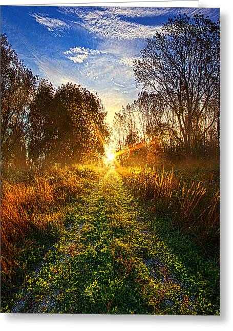 Road Travel Greeting Cards - Dream With Your Eyes Open Greeting Card by Phil Koch