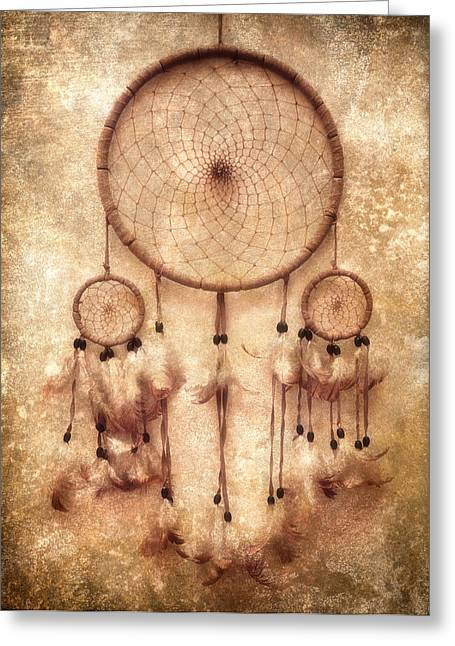 Trap Greeting Cards - Dreamcatcher Greeting Card by Wim Lanclus