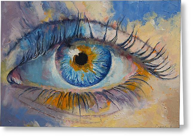 Eye Greeting Card by Michael Creese