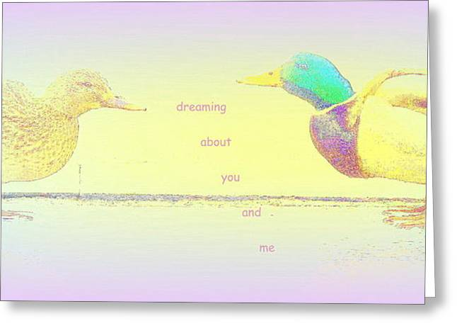 Sweating Photographs Greeting Cards - Dreaming About You And Me Greeting Card by Hilde Widerberg