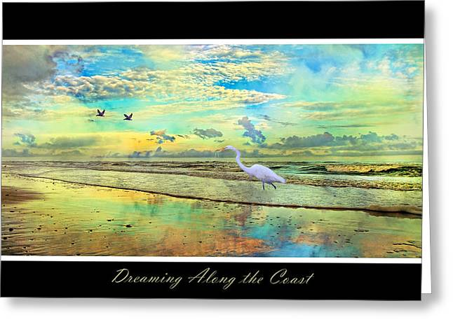 Vibrance Greeting Cards - Dreaming Along the Coast -- Egret  Greeting Card by Betsy A  Cutler