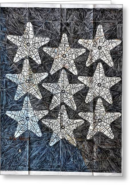 Recently Sold -  - Ink Drawing Greeting Cards - Dreaming California Stars Greeting Card by John Parish