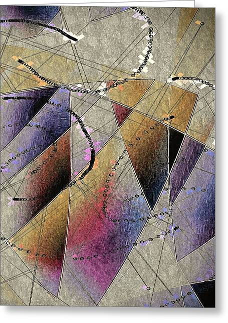 Abstract Digital Digital Greeting Cards - Dreaming Da Vinci Greeting Card by Susan Maxwell Schmidt