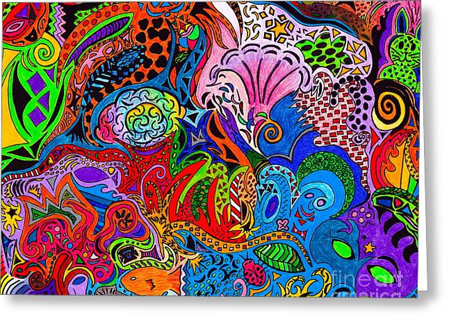 Breezy Mixed Media Greeting Cards - Dreaming in Color Greeting Card by M West