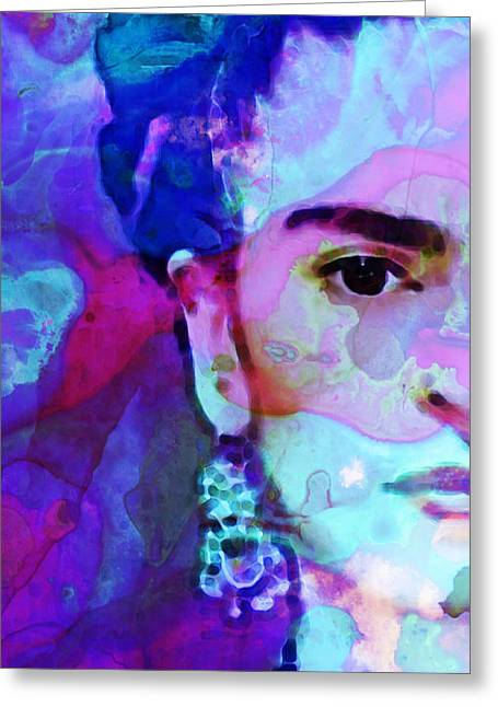 Best Sellers -  - Famous Artist Greeting Cards - Dreaming of Frida - Art By Sharon Cummings Greeting Card by Sharon Cummings